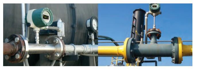 涡街流量计因基于热传递而不需要温度或压力校正